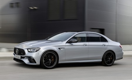 2021 Mercedes-AMG E 63 S (Color: Hightech Silver Metallic) Side Wallpapers 450x275 (80)