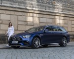 2021 Mercedes-AMG E 63 S Estate 4MATIC+ (Color: Designo Magno Brilliant Blue) Front Three-Quarter Wallpapers 150x120 (40)