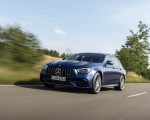 2021 Mercedes-AMG E 63 S Estate 4MATIC+ (Color: Designo Magno Brilliant Blue) Front Three-Quarter Wallpapers 150x120 (2)