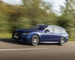 2021 Mercedes-AMG E 63 S Estate 4MATIC+ (Color: Designo Magno Brilliant Blue) Front Three-Quarter Wallpapers 150x120 (3)