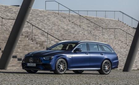 2021 Mercedes-AMG E 63 S Estate 4MATIC+ (Color: Designo Magno Brilliant Blue) Front Three-Quarter Wallpapers 450x275 (15)