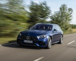 2021 Mercedes-AMG E 63 S Estate 4MATIC+ (Color: Designo Magno Brilliant Blue) Front Three-Quarter Wallpapers 150x120 (5)