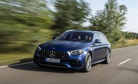 2021 Mercedes-AMG E 63 S Estate 4MATIC+ (Color: Designo Magno Brilliant Blue) Front Three-Quarter Wallpapers 450x275 (5)