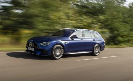 2021 Mercedes-AMG E 63 S Estate 4MATIC+ (Color: Designo Magno Brilliant Blue) Front Three-Quarter Wallpapers 450x275 (6)