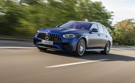 2021 Mercedes-AMG E 63 S Estate 4MATIC+ (Color: Designo Magno Brilliant Blue) Front Three-Quarter Wallpapers 450x275 (7)