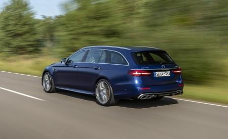 2021 Mercedes-AMG E 63 S Estate 4MATIC+ (Color: Designo Magno Brilliant Blue) Rear Three-Quarter Wallpapers 450x275 (10)