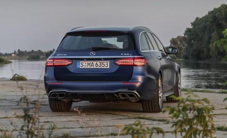 2021 Mercedes-AMG E 63 S Estate 4MATIC+ (Color: Designo Magno Brilliant Blue) Rear Wallpapers 450x275 (28)