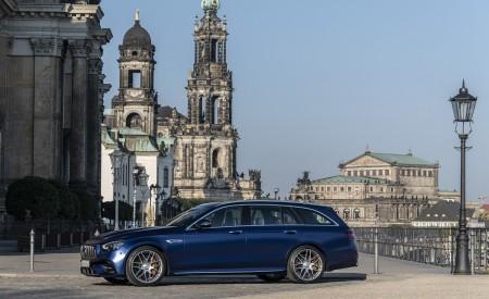 2021 Mercedes-AMG E 63 S Estate 4MATIC+ (Color: Designo Magno Brilliant Blue) Side Wallpapers 450x275 (38)