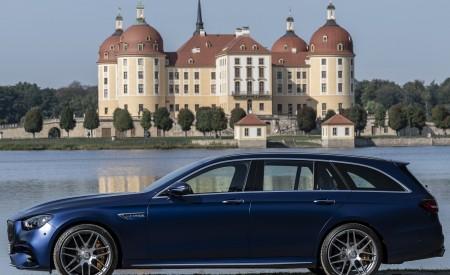 2021 Mercedes-AMG E 63 S Estate 4MATIC+ (Color: Designo Magno Brilliant Blue) Side Wallpapers 450x275 (30)