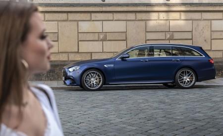 2021 Mercedes-AMG E 63 S Estate 4MATIC+ (Color: Designo Magno Brilliant Blue) Side Wallpapers 450x275 (44)