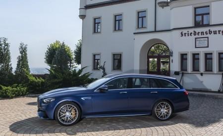 2021 Mercedes-AMG E 63 S Estate 4MATIC+ (Color: Designo Magno Brilliant Blue) Side Wallpapers 450x275 (39)