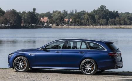 2021 Mercedes-AMG E 63 S Estate 4MATIC+ (Color: Designo Magno Brilliant Blue) Side Wallpapers 450x275 (31)