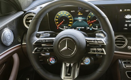 2021 Mercedes-AMG E 63 S Estate 4MATIC+ Interior Steering Wheel Wallpapers 450x275 (53)