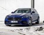 2021 Mercedes-AMG E 63 S Estate (Color: Brilliant Blue Magno) Front Three-Quarter Wallpapers 150x120 (14)