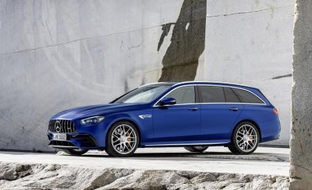 2021 Mercedes-AMG E 63 S Estate (Color: Brilliant Blue Magno) Front Three-Quarter Wallpapers 450x275 (79)