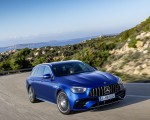 2021 Mercedes-AMG E 63 S Estate (Color: Brilliant Blue Magno) Front Three-Quarter Wallpapers 150x120 (8)