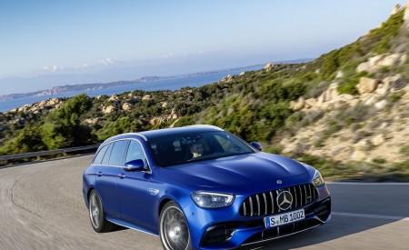 2021 Mercedes-AMG E 63 S Estate (Color: Brilliant Blue Magno) Front Three-Quarter Wallpapers 450x275 (74)