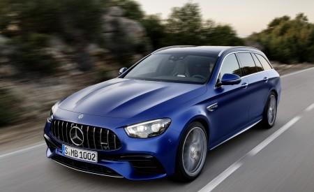 2021 Mercedes-AMG E 63 S Estate (Color: Brilliant Blue Magno) Front Three-Quarter Wallpapers 450x275 (69)
