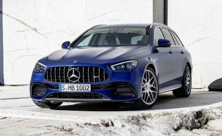 2021 Mercedes-AMG E 63 S Estate (Color: Brilliant Blue Magno) Front Three-Quarter Wallpapers 450x275 (80)
