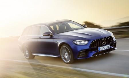 2021 Mercedes-AMG E 63 S Estate (Color: Brilliant Blue Magno) Front Three-Quarter Wallpapers 450x275 (76)
