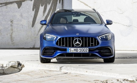 2021 Mercedes-AMG E 63 S Estate (Color: Brilliant Blue Magno) Front Wallpapers 450x275 (81)
