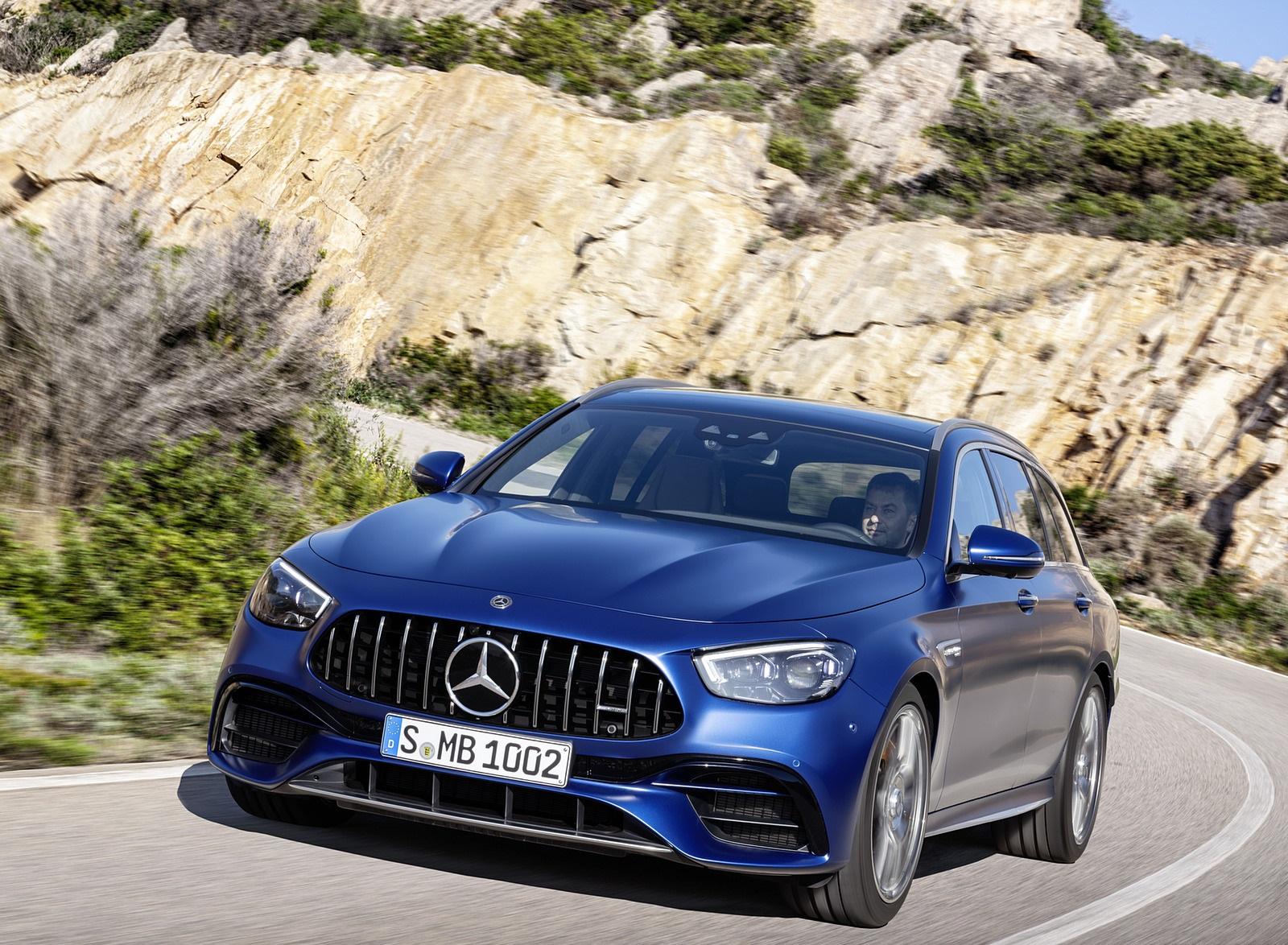 2021 Mercedes-AMG E 63 S Estate (Color: Brilliant Blue Magno) Front Wallpapers (2)