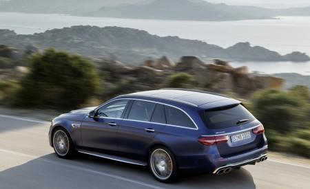 2021 Mercedes-AMG E 63 S Estate (Color: Brilliant Blue Magno) Rear Three-Quarter Wallpapers 450x275 (77)