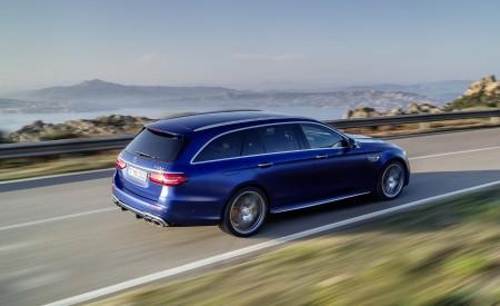 2021 Mercedes-AMG E 63 S Estate (Color: Brilliant Blue Magno) Rear Three-Quarter Wallpapers 450x275 (71)