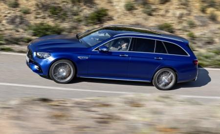 2021 Mercedes-AMG E 63 S Estate (Color: Brilliant Blue Magno) Side Wallpapers 450x275 (73)