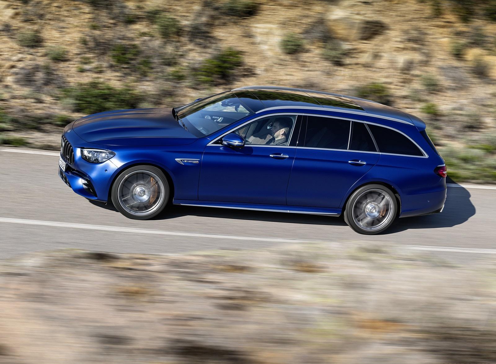 2021 Mercedes-AMG E 63 S Estate (Color: Brilliant Blue Magno) Side Wallpapers (7)
