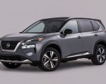2021 Nissan Rogue Platinum AWD Front Three-Quarter Wallpapers 150x120 (23)