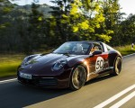 2021 Porsche 911 Targa 4S Heritage Design Edition (Color: Cherry Metallic) Front Three-Quarter Wallpapers 150x120 (10)