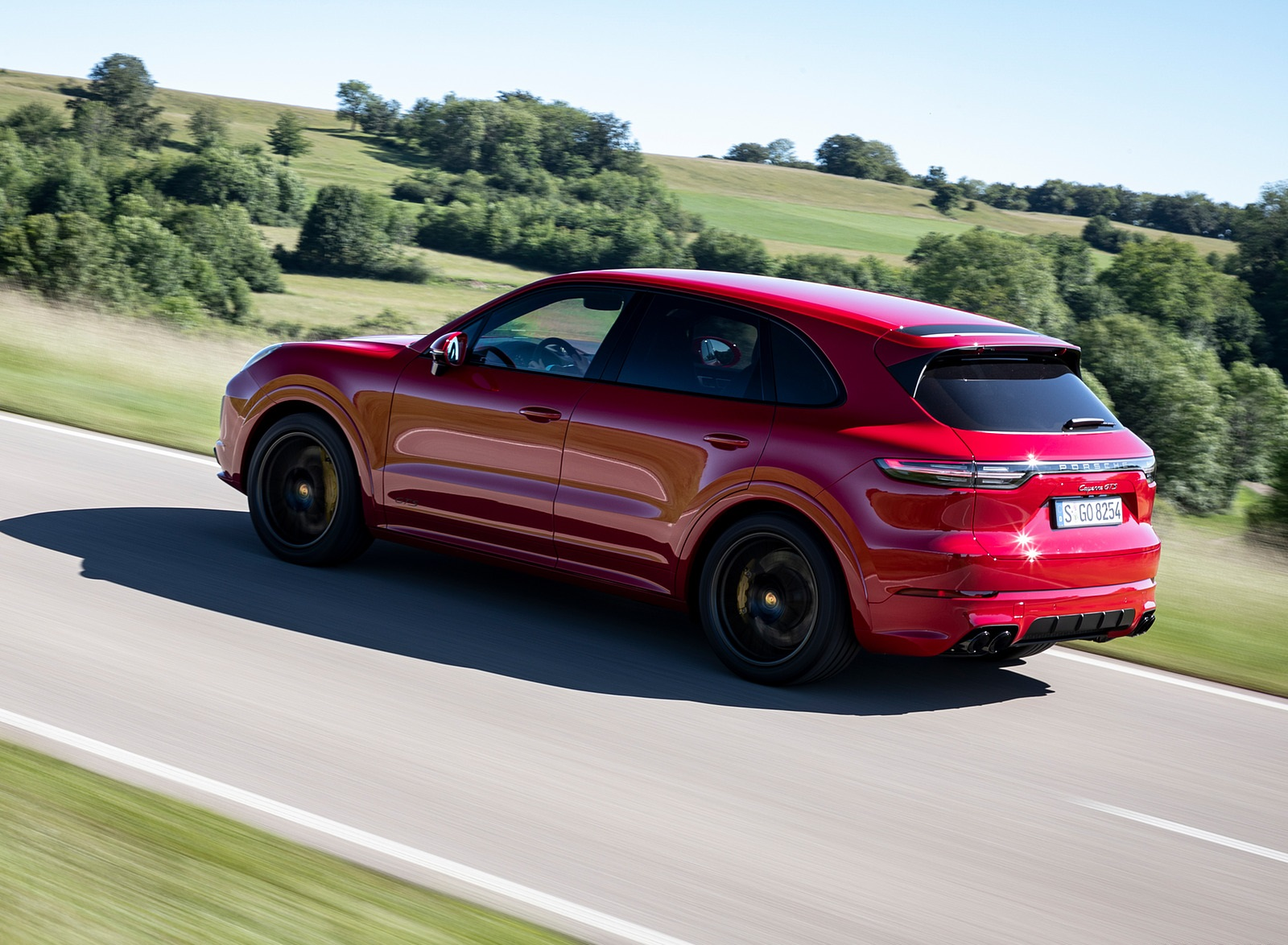 2021 Porsche Cayenne Gts Color Carmine Red Rear Three Quarter Wallpapers 7 Newcarcars