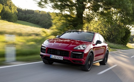 2021 Porsche Cayenne GTS Coupe (Color: Carmine Red) Front Wallpapers 450x275 (8)
