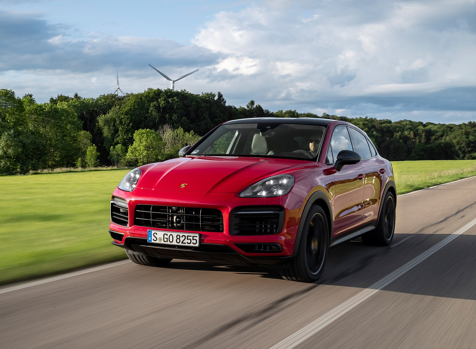2021 Porsche Cayenne GTS Coupe (Color: Carmine Red) Front Wallpapers (1)
