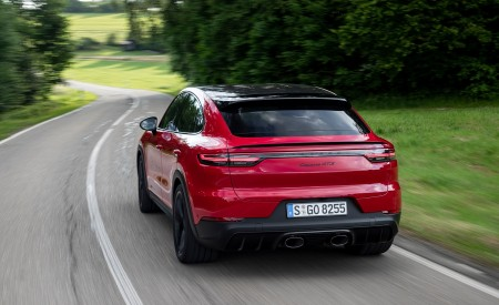 2021 Porsche Cayenne GTS Coupe (Color: Carmine Red) Rear Wallpapers 450x275 (11)