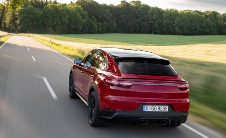 2021 Porsche Cayenne GTS Coupe (Color: Carmine Red) Rear Wallpapers 450x275 (12)