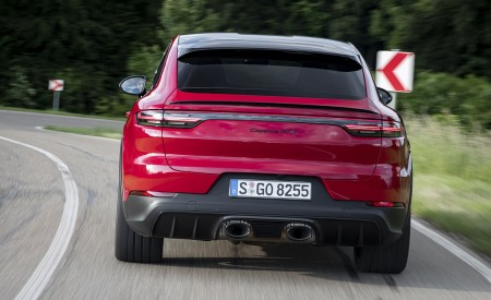 2021 Porsche Cayenne GTS Coupe (Color: Carmine Red) Rear Wallpapers 450x275 (13)