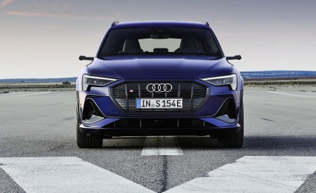 2021 Audi e-tron S (Color: Navarra Blue) Front Wallpapers 450x275 (2)