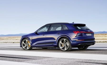 2021 Audi e-tron S (Color: Navarra Blue) Rear Three-Quarter Wallpapers 450x275 (5)