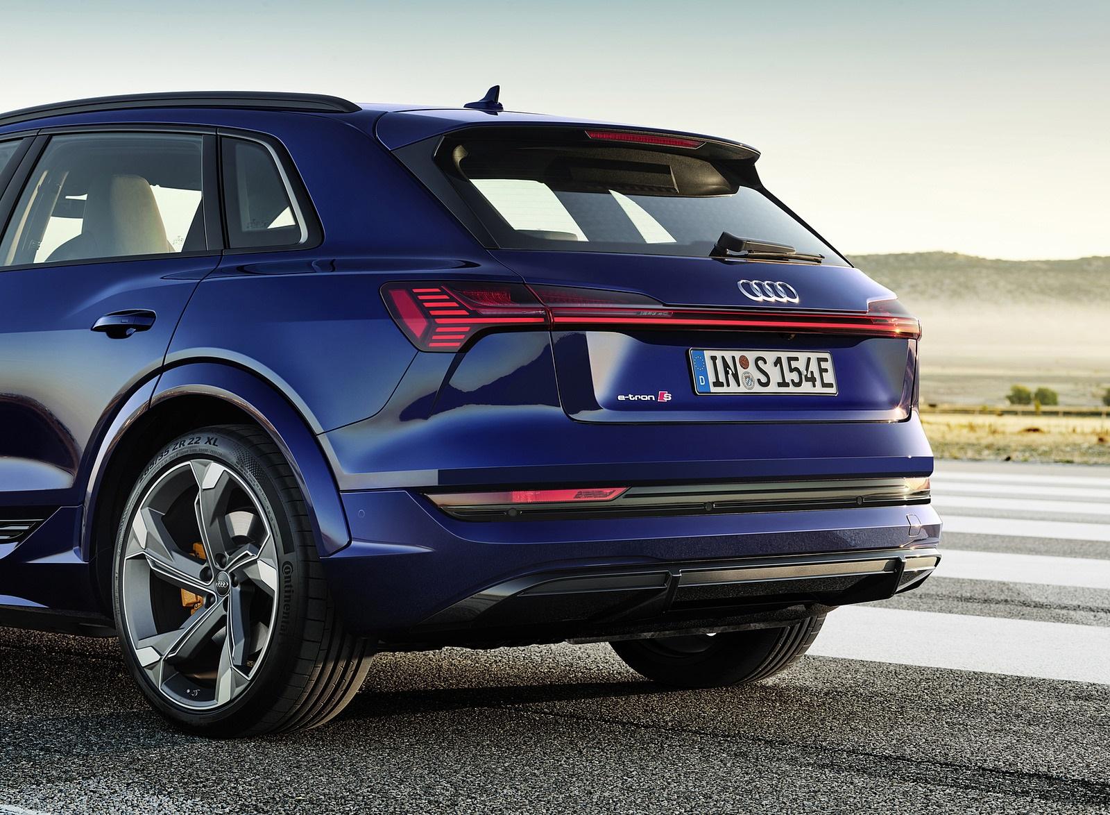 2021 Audi e-tron S (Color: Navarra Blue) Rear Wallpapers (8)
