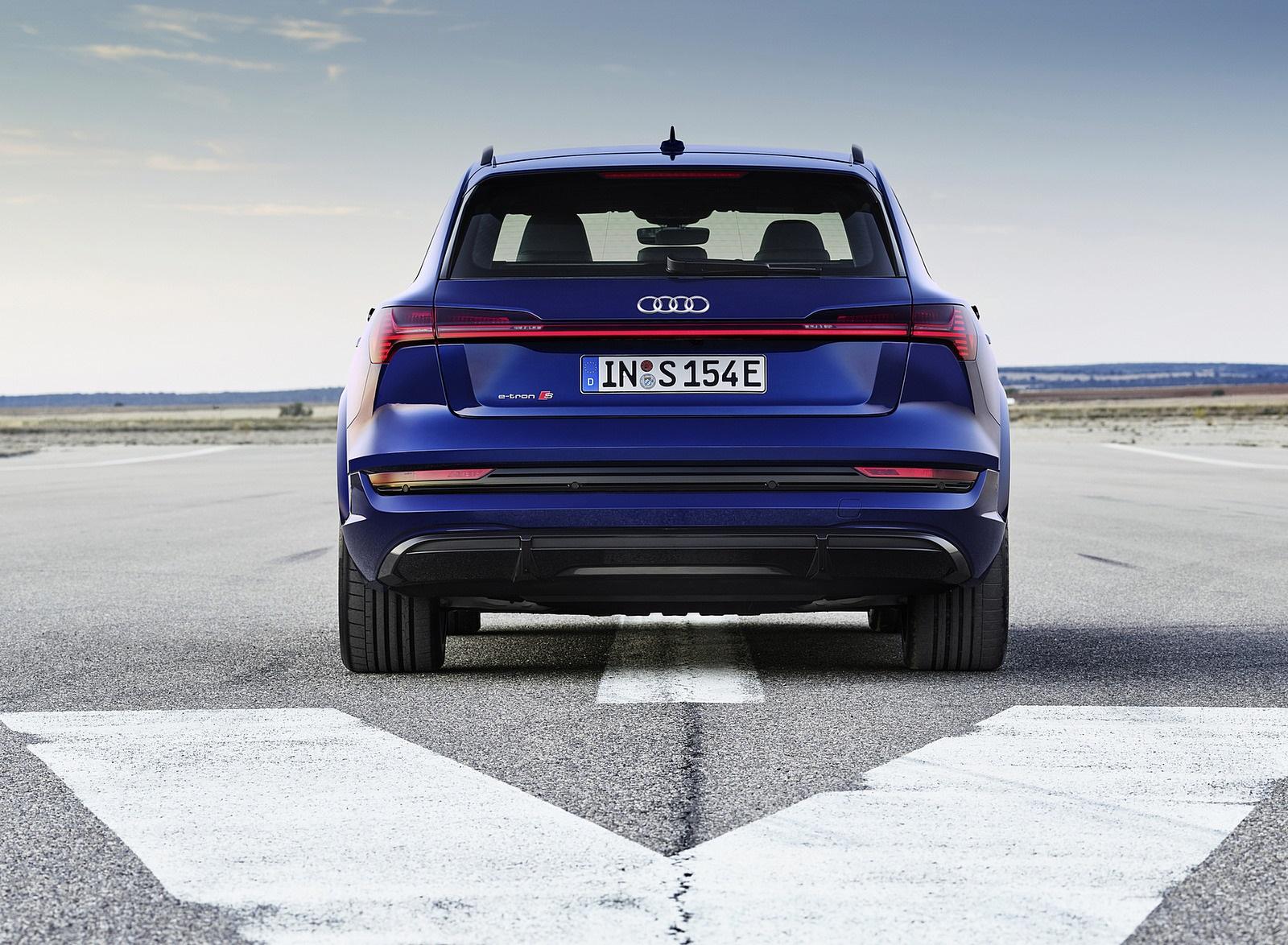 2021 Audi e-tron S (Color: Navarra Blue) Rear Wallpapers (6)