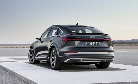 2021 Audi e-tron S Sportback (Color: Daytona Gray) Rear Three-Quarter Wallpapers 450x275 (4)