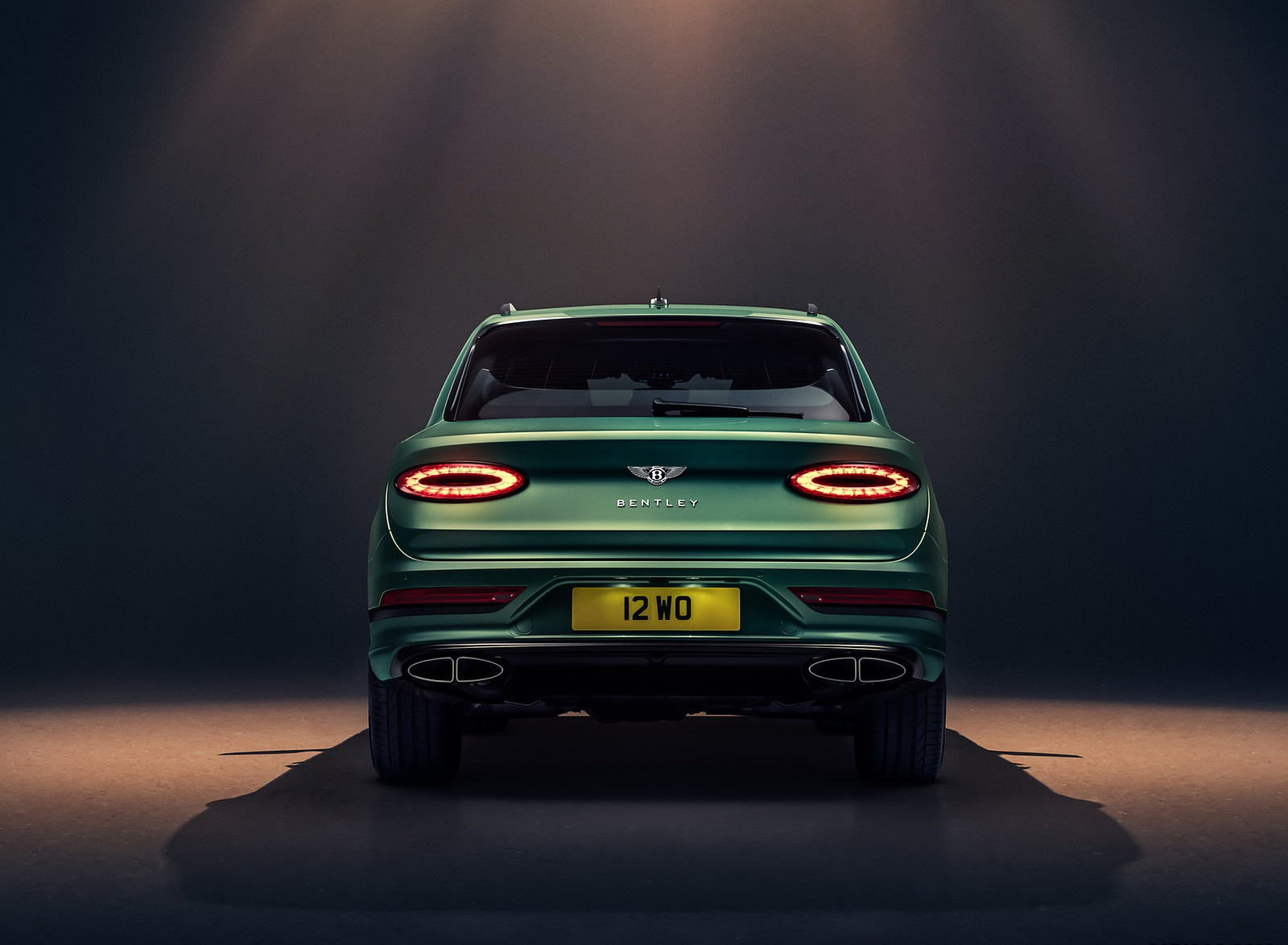 2021 Bentley Bentayga V8 (Color: Alpine Green) Rear Wallpapers (9)