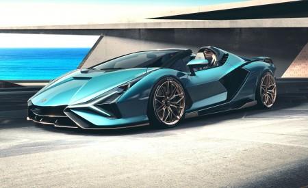 2021 Lamborghini Sián Roadster Front Three-Quarter Wallpapers 450x275 (3)