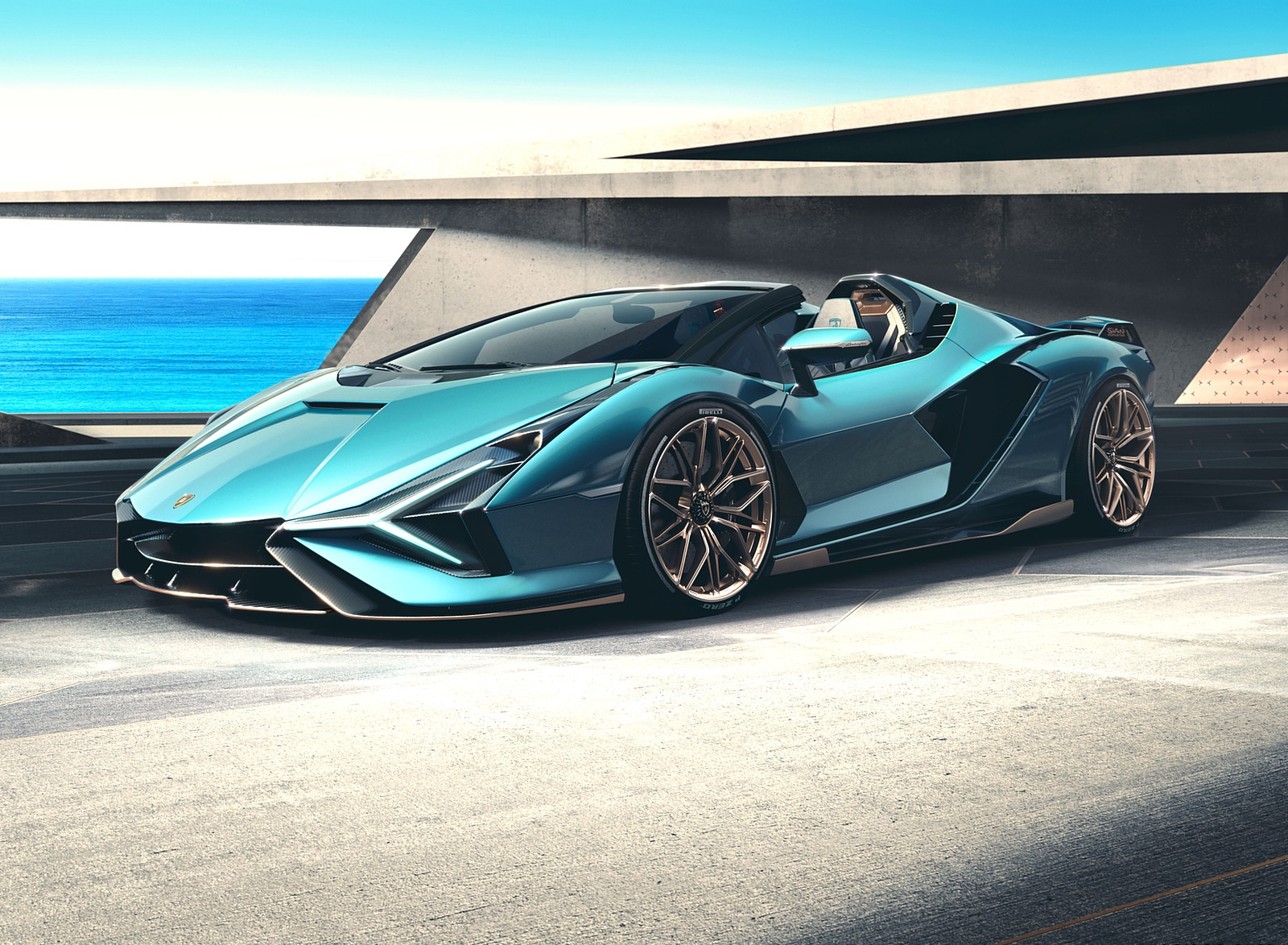 2021 Lamborghini Sián Roadster Front Three-Quarter Wallpapers (3)