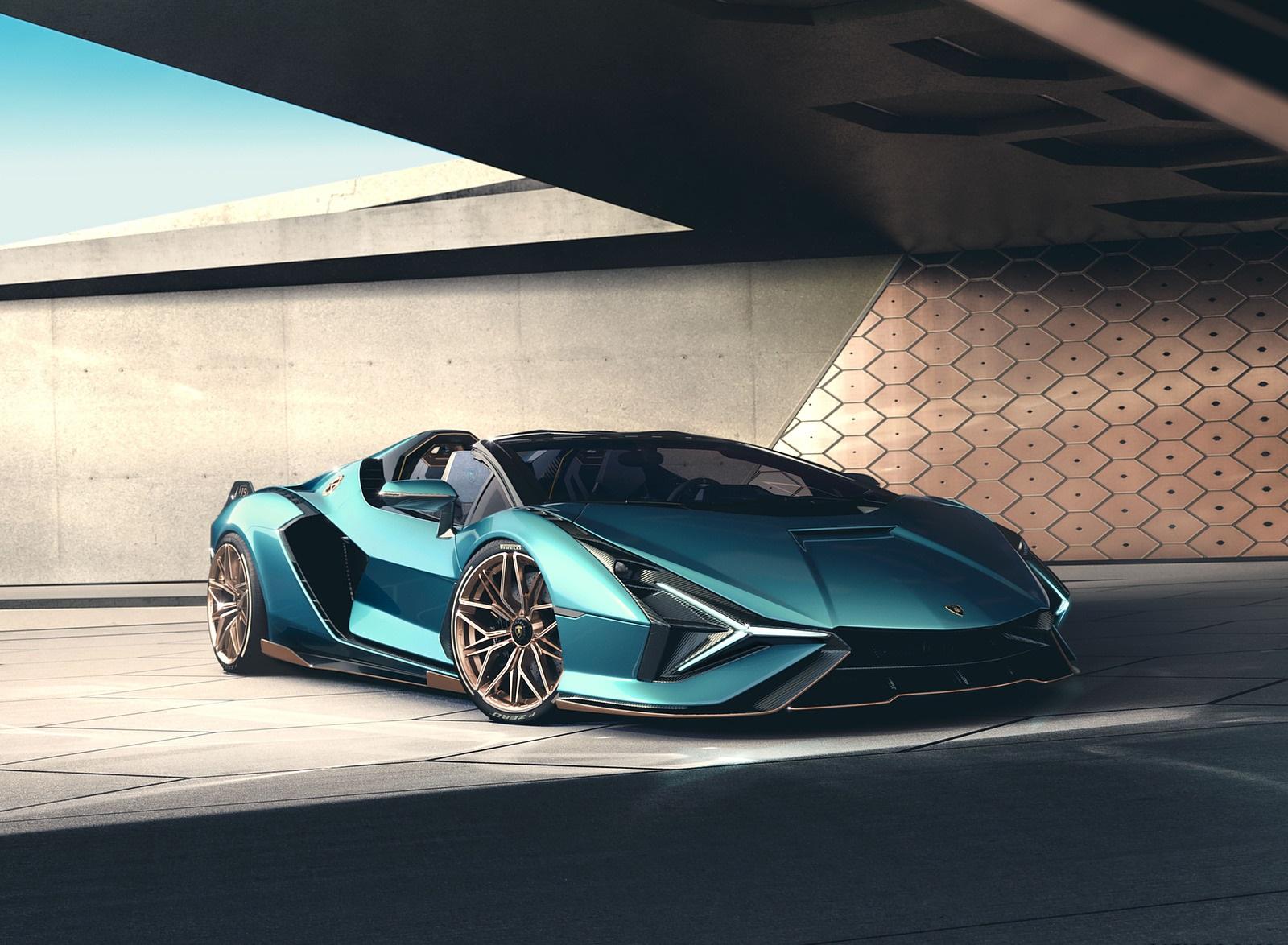 2021 Lamborghini Sián Roadster Front Three-Quarter Wallpapers (4)
