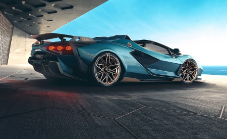 2021 Lamborghini Sián Roadster Rear Three-Quarter Wallpapers 450x275 (10)