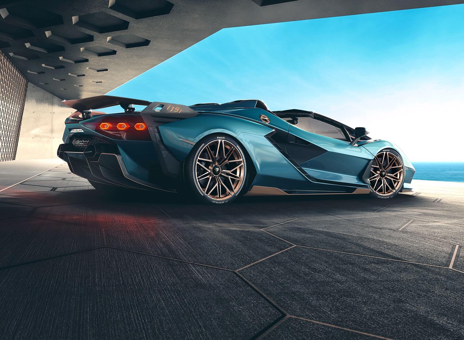 2021 Lamborghini Sián Roadster Rear Three-Quarter Wallpapers (10)