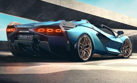 2021 Lamborghini Sián Roadster Rear Three-Quarter Wallpapers 450x275 (6)